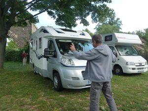 Rudesheim arrivée au camping.  installation