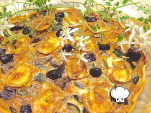 Tarte provençale {courgettes, aubergines, chèvre &amp&#x3B; olives)