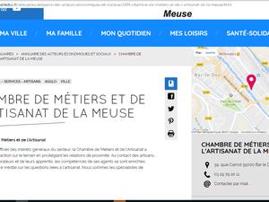 Le site internet de la Ville de Bar-le-Duc est (toujours) en travaux : adresse de la Chambre de Métiers
