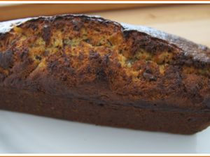 Cake banane, orange confite et chocolat