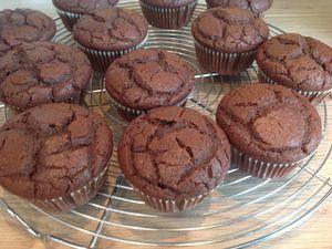 Muffins au chocolat hyper fondant
