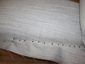 Tissu final sur l'assise