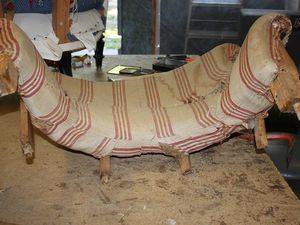 Renaissance d'un fauteuil Lambrequin (Napoléon III)