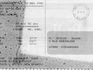 Premières courses sur route 1986-1987