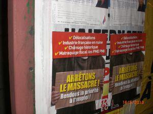 Et une série de collages à Auberchicourt et Aniche ces derniers jours ! Une !