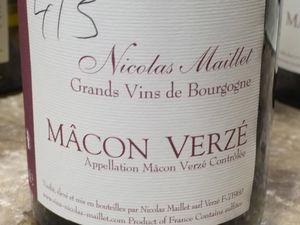 Balade bourguignonne volume I : Domaine Nicolas Maillet à Verzé