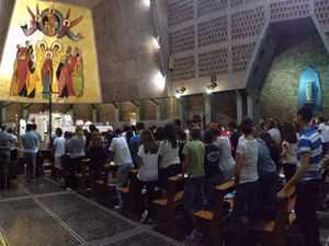 Messe de rentrée à l'ISGE de Rome /..../ First mass of the new Academic Year at ISGE in Rome