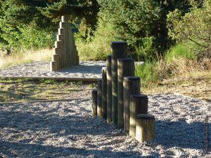 Le village du Vernet (3) : le parcours sportif et les jeux / Balade en Haute-Loire