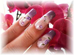 nail art french dégradé et WD G009 - cquepournous