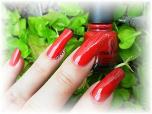 vernis china glaze red satin - nails papillons