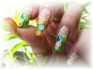 nail art french fruitée