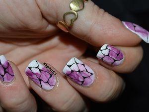 nail art abstrait et nouvelle longueur