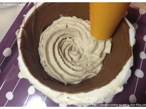 Dôme gourmand chantilly mascarpone nutella / cœur de nutella