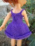 la robe lilas devant et le dos...