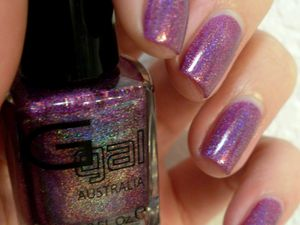 &quot&#x3B;Dark Purple&quot&#x3B; 3D Holo Glitter Gal