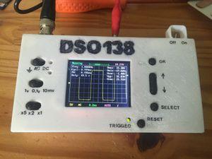 Boite en PLA pour Oscilloscope en kit (DSO138 de banggood), le fichier à imprimer vient de thingiverve