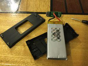 Intérieur de la batterie
