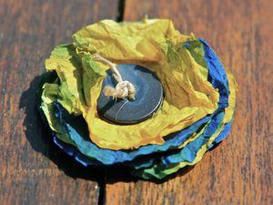 tuto : fleur en papier essuie-tout