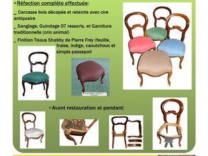 Réfections précédentes chaises Louis Philippe