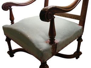 Fauteuil de style Louis XIV, Du Siège Au Décor,Tapissier d'Ameublement