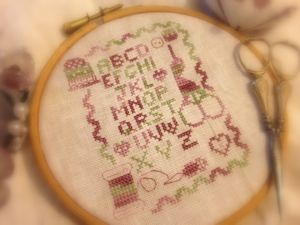 CROSS STICH SAMPLER...