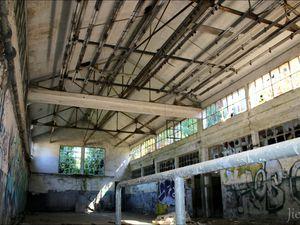"""Batiment destinés aux mineurs, on y trouvaient la célèbre """"salle des pendus"""" où les mineurs suspendaient leur équipement."""