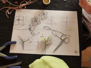 fil de fer, fil de soie, mousseline, ambiance boudoir, petits gâteaux et tasses de thé...