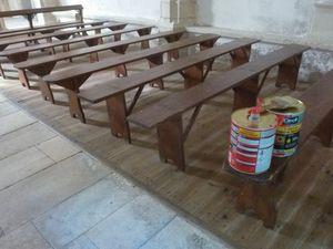 Travaux d'entretien à la chapelle de Massey