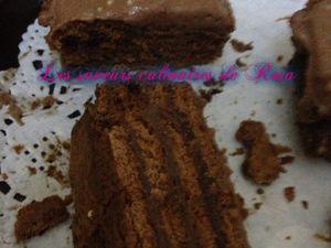 Millefeuille au petits beurre et chocolat