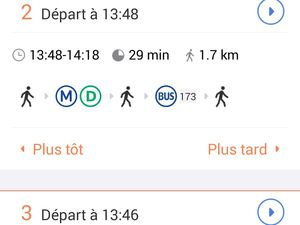 Moovit fonctionne sous Androïd, iOS ou Windows phone.