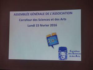 Retour sur l'assemblée générale du lundi 15 février 2016
