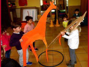 Les girafes sont presque prêtes pour le spectacle !