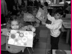 L'atelier de collage des cercles