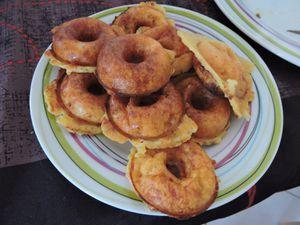 Donut's salés au fromage et jambon