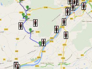 Pour rejoindre l'itinéraire de la Loire  vélo, à Blois ou à Onzain (Chaumont sur Loire),Il faut impérativement éviter, aux cyclistes, de prendre la RD 952 le long de la Loire. Bien trop dangereuse et accidentogène.