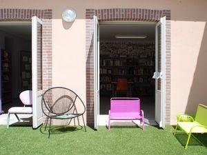 Terrasse d'été à la Médiathèque
