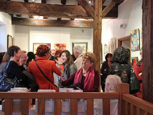Vernissage de l'exposition de la Garance Bleue