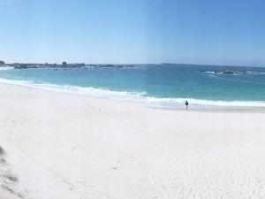 panoramique de la Plage de Menez Ham - Trempette après 27 kms de pédibus: le bonheur salé et iodé