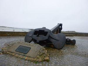 l'ancre de l'Amoco Cadiz à Portsall étrange prise de guerre n'est-il pas ?