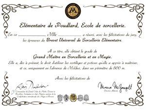 Dans le coffret de fin d'études à Poudlard #1
