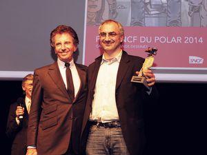 La cérémonie de remise des prix à l'Institut du Monde Arabe avec Jean-Pierre Dionnet et Jack Lang (Président de l'IMA). Derf Backderf avait enregistré une petite vidéo de remerciements pour l'occasion.