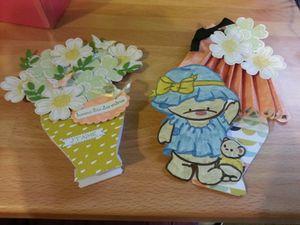 Ici les modèles que j'ai proposé ,de la carte vase ,carte lampe et carte 3 D.