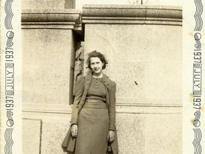 Photo et message d'Elizabeth CUNDY de juillet 1937