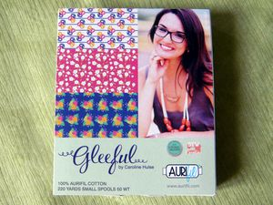 Gleeful Collection by Carolina Hulse - 10 small spools cotton 50wt - Colors included: 2780 – 2805 – 2021 – 2600 – 2630 – 2860 – 1147 – 1135 – 2405 – 2588