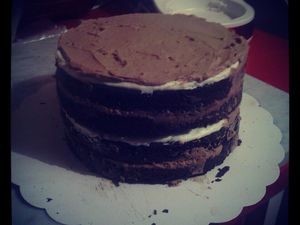 Layer cake : Délice 3 chocolats