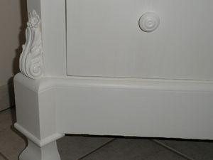 Semainier style régence relooké blanc