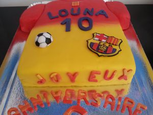 Gâteau football Barça - Barcelone - Angel's Kitchen