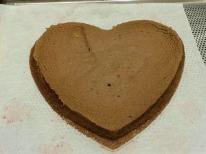 ENTREMETS SAINT VALENTIN CHOCOLAT LAIT PASSION GINGEMBRE
