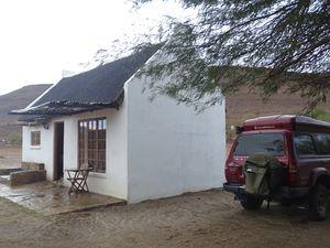 Une jolie Guest House perdue au fond d'une vallée, mais la mauvaise météo et l'accueil idoine ont un peu gâché la soirée
