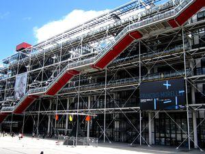 Le centre Pompidou et ses alentours avec des enfants